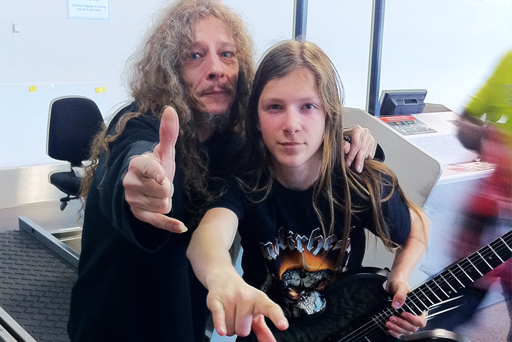 2011 - Legendary Thrash Metal guitarist MIKE of DESTRUCTION with ROCKY of MYSTERY